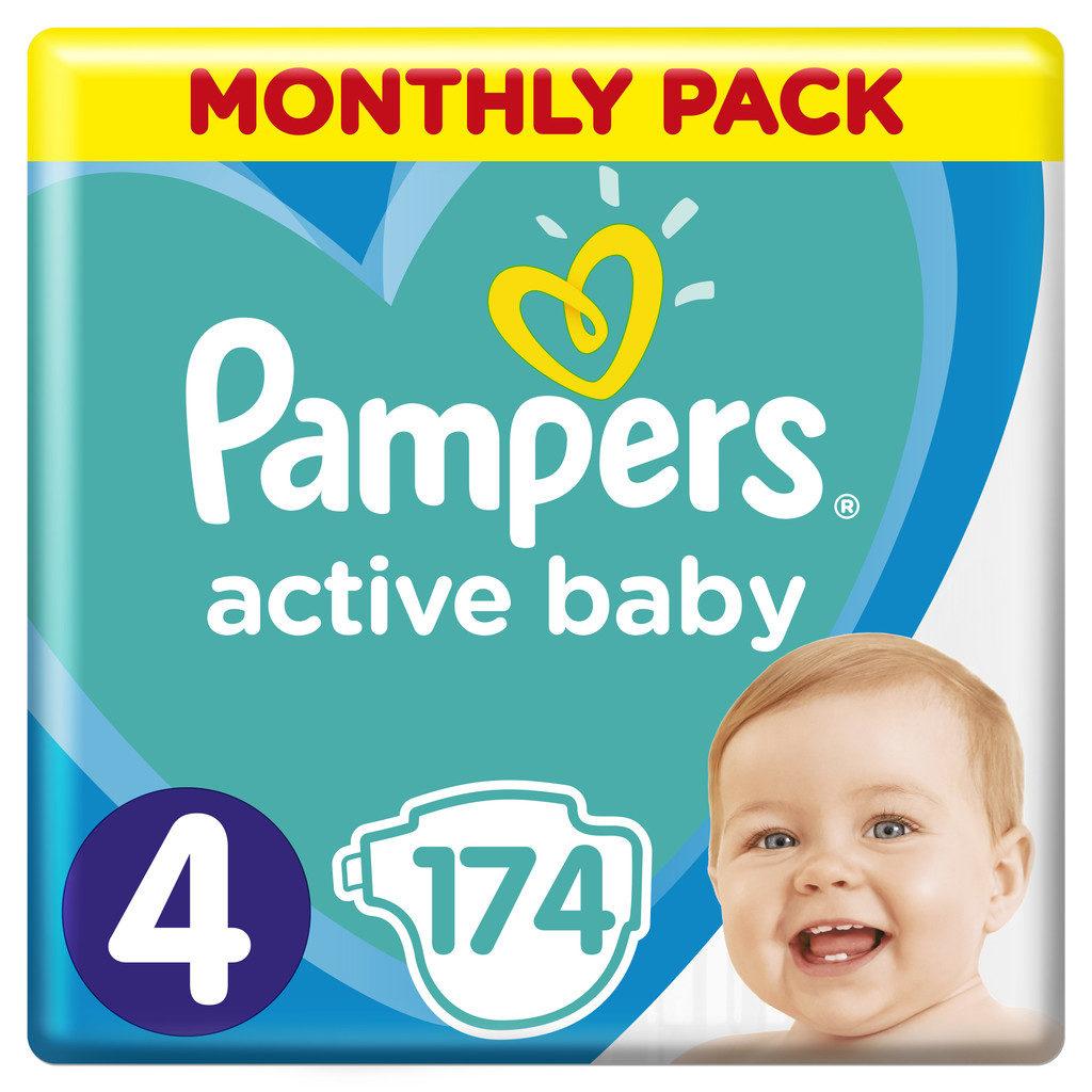 Nejlevnější Pampers Active Baby-Dry 4 MAXI 8-14 kg 174 ks