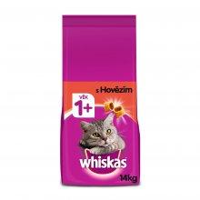 Nejlevnější Whiskas granule s hovězím pro dospělé kočky 14 kg
