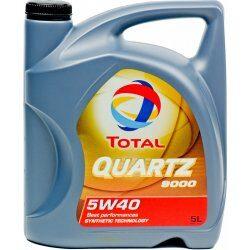 Nejlevnější Total Quartz 9000 5W-40 5 l