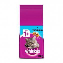 Nejlevnější Whiskas granule s tuňákem pro dospělé kočky 14kg