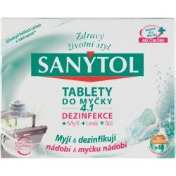 Nejlevnější Sanytol 4v1 tablety do myčky nádobí 40 ks